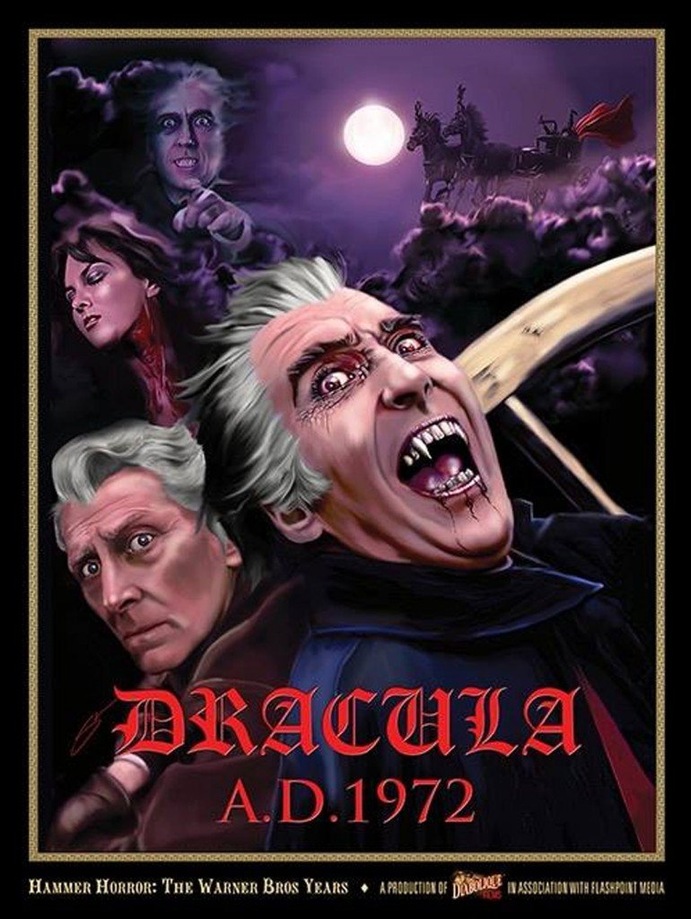Steve McGinnis Premieres DRACULA A D  1972 Art For New Hammer Doc