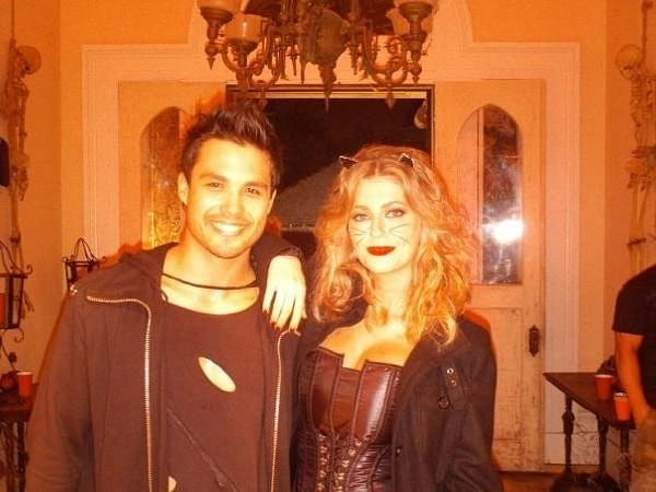 Michael Copon and Diora Baird in Night of the Demons