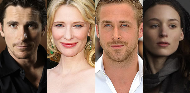 Christian Bale, Cate Blanchett, Ryan Gosling and Rooney Mara to star in two Terrence Malick films
