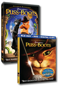 Puss in Boots on DVD Blu-ray today