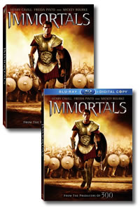 Immortals on DVD Blu-ray today