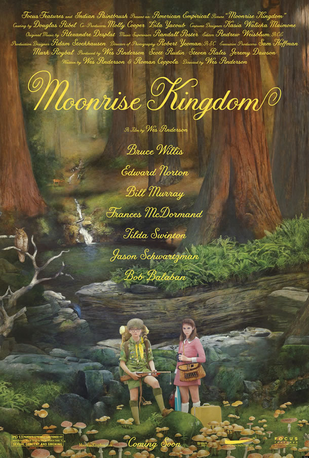 Poster for Wes Anderson's Moonrise Kingdom