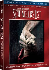 Schindler's List (20th Anniversary) on DVD Blu-ray today