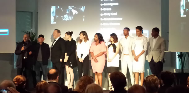 Anant Singh, Yuen Wo Ping, Harvey Weinstein, Rooney Mara, (unknown), Octavia Spencer, Melonie Diaz, Michael B. Jordan, Naomie Harris and Ryan Coogler at the Majestic Hotel