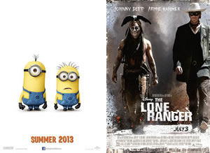 Lone Ranger and Despicable Me 2 box office predictions