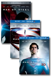 Man of Steel on DVD Blu-ray today