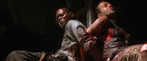 Samuel L. Jackson and Bruce Willis in Die Hard: With a Vengeance