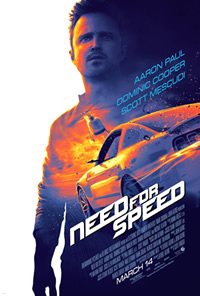 Need for Speed on DVD Blu-ray today