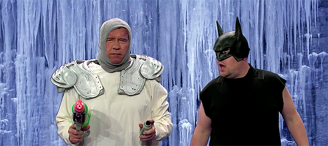 Arnold Schwarzenegger Acts Out His Career in 6 Minutes with James Corden.