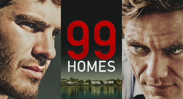 The 99 Homes trailer is here, offering a look at the new drama starring Andrew Garfield and Michael Shannon.