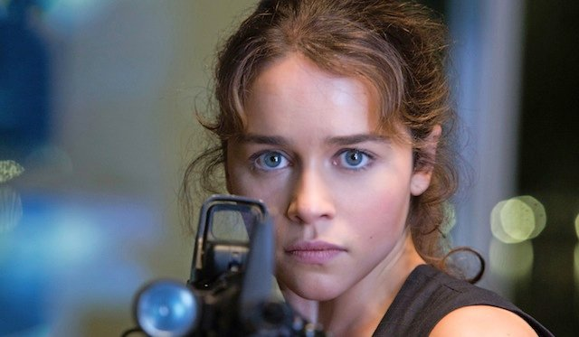 Emilia Clarke stars as Sarah Connor in the new franchise sequel/reboot Terminator Genisys!