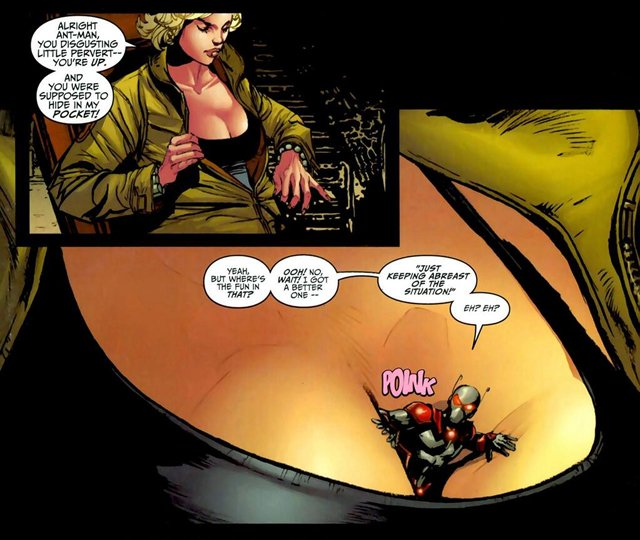The irredeemable Ant-Man comics offered some Ant-Man scenes that might be amusing to see on the big screen.