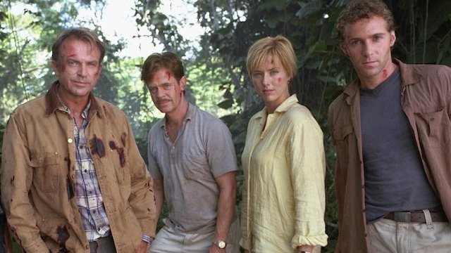 The cast of Jurassic Park III contributed to the adventures leading into the Jurassic World story.