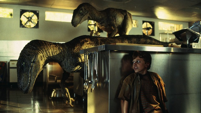 The Raptors make an early appearance in the Jurassic World story.