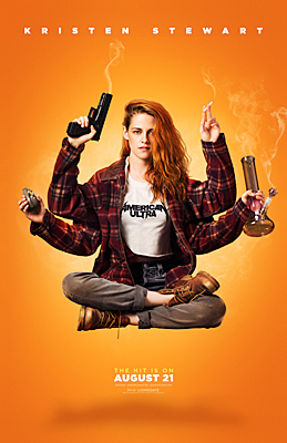 From the Set of American Ultra, Starring Jesse Eisenberg and Kristen Stewart.
