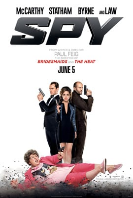 Spy review - a look at director Paul Feig's new action comedy, starring Melissa McCarthy, Jason Statham, Jude Law and Rose Byrne.
