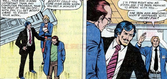 Could there be Ant-Man scenes that depict Scott Lang's time as a Stark Industries employee.