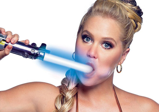 Amy Schumer Gets Down with Star Wars in GQ Shoot
