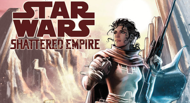 Check out a new Star Wars character on the Shattered Empire cover!