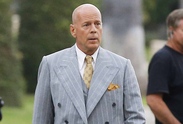 Bruce Willis and Jesse Eisenberg Photos from the Set of Woody Allen's Latest
