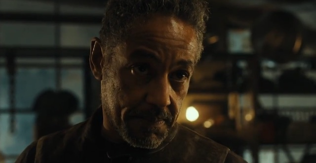 A new Scorch Trials clip introduces Giancarlo Esposito's character, Jorge.