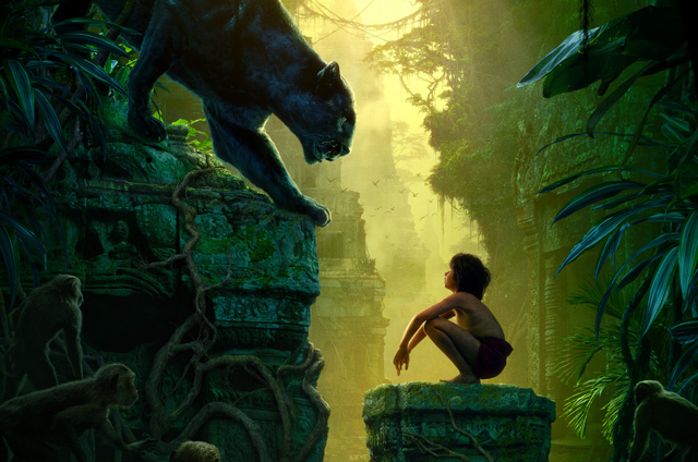 Second Part of the Triptych Jungle Book Poster Dominated by Shere Khan.