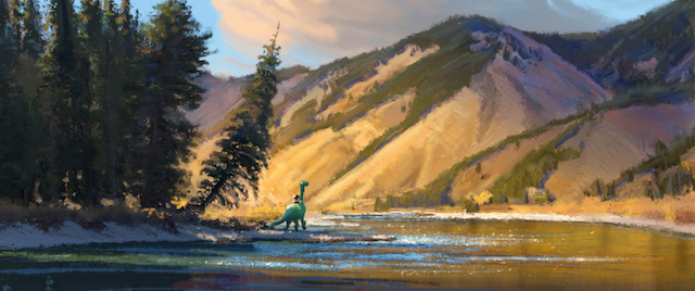 There's a boy and his dog angle to The Good Dinosaur story.