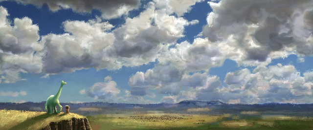 Clouds play a big role in the Good Dinosaur story.