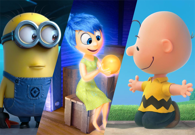 16 films submitted for eligibility for the 2015 best animated feature