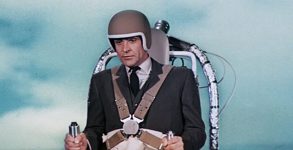 We certainly couldn't forget the Thunderball jetpack on the list of best James Bond gadgets.