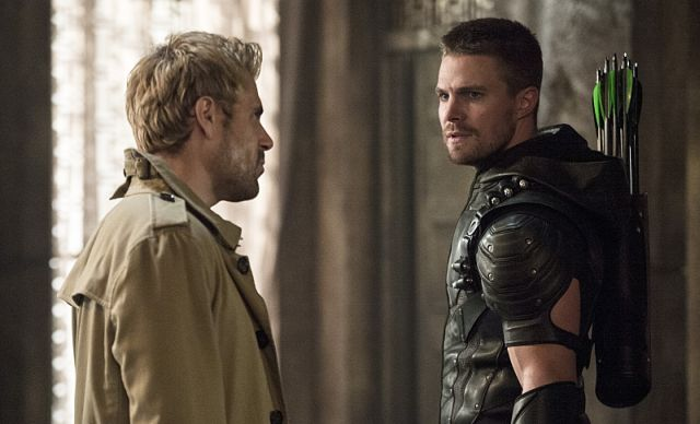 John Constantine Has a Warning for Oliver Queen in New Arrow Clip.