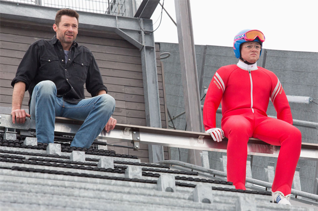 Eddie the Eagle Clip: Hugh Jackman Inspires Olympic Greatness.