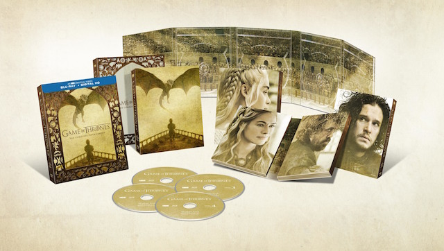 Get ready for the Game of Thrones season 5 blu-ray.