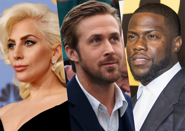 Oscar Presenters Include Lady Gaga, Ryan Gosling, Kevin Hart and More.