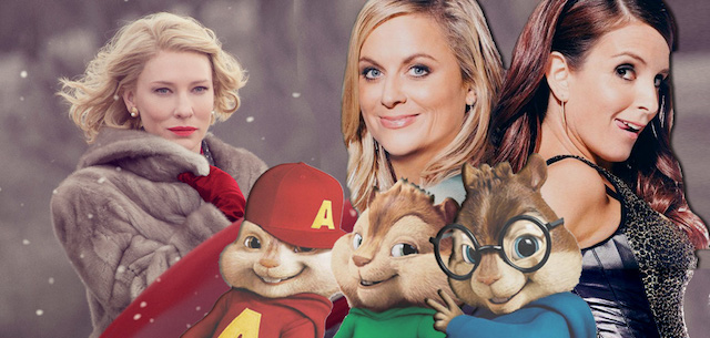 Titles arriving March 15 include Carol, Sisters and Alvin and the Chipmunks: The Road Chip.