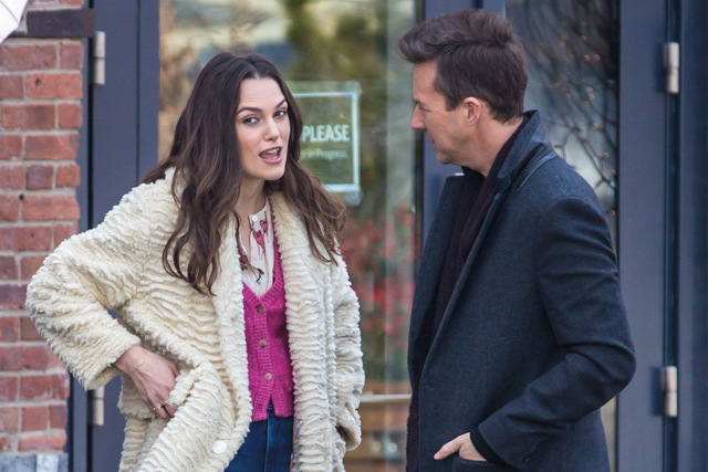 Edward Norton and Keira Knightley Photos from the Collateral Beauty Set