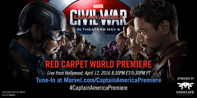 Watch the Captain America: Civil War Red Carpet Live!