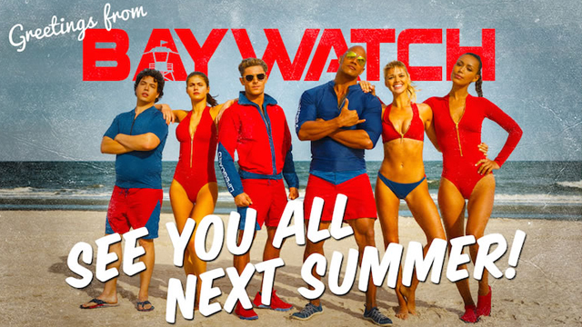 """Check out the first """"official"""" Baywatch photo."""