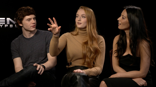 CS sits down with X-Men: Apocalypse stars Evan Peters, Sophie Turner and Olivia Munn.