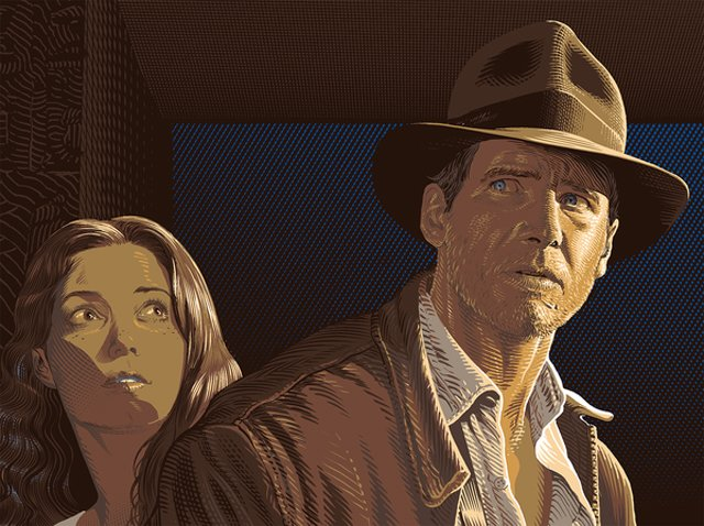 Bottleneck Gallery Raiders of the Lost Ark Print Melts Your Face