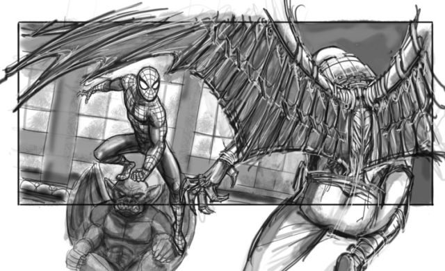 Storyboards for Defunct Spider-Man 4 Show Off Vulture Action, Mysterio Cameo