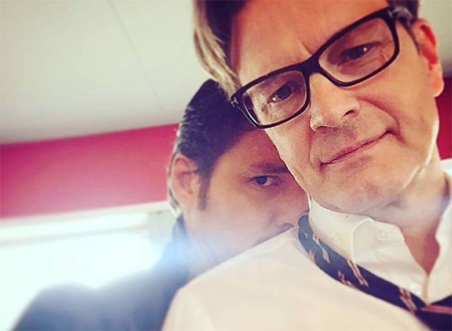 First Photo of Colin Firth on the Kingsman 2 Set