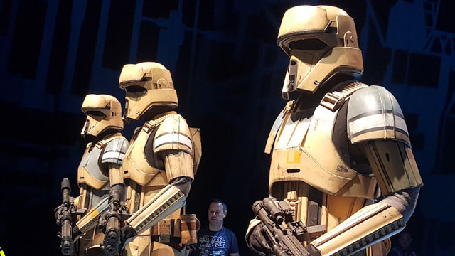 Check out more than 45 photos of the Rogue One costumes that are currently on display at the 2016 Star Wars Celebration, running through July 17 in London.