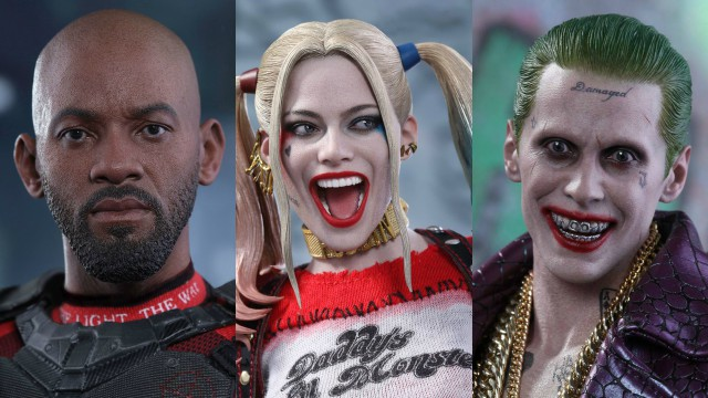 Suicide Squad Hot Toys Including Harley Quinn, Deadshot, and The Joker