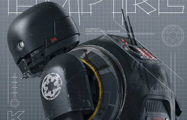 New Rogue One: A Star Wars Story Images Featuring K-2SO