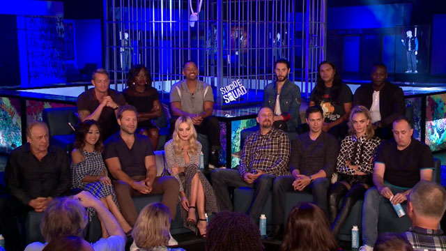 Watch the full Suicide Squad press conference!