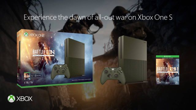 Microsoft Reveals Xbox One Battlefield 1 Bundles With New Console Colors