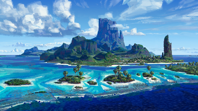 The islands are an important part of the Moana movie.