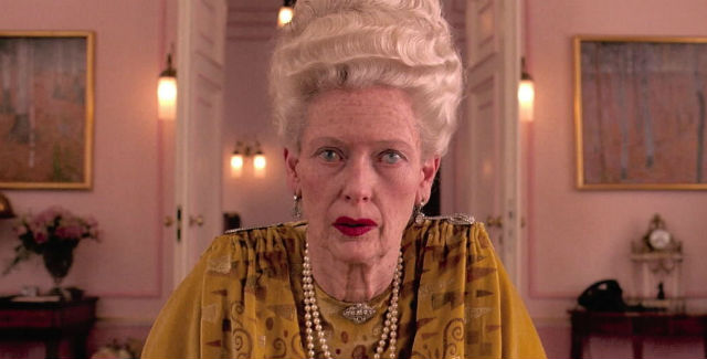 Among the many memorable Tilda Swinton movies is Wes Anderson's The Grand Budapest Hotel.