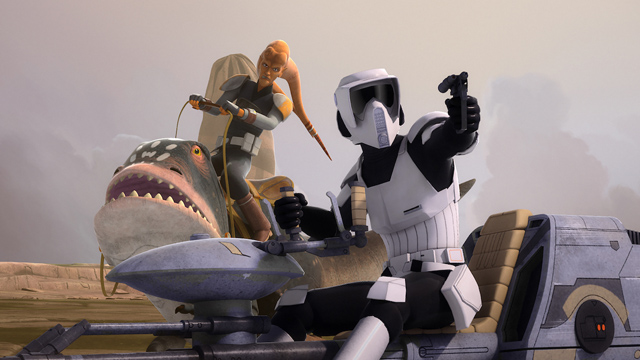 Check out some clips from the new Rebels episode, Hera's Heroes.